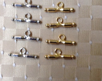 Silver and Gold Toggle Bars