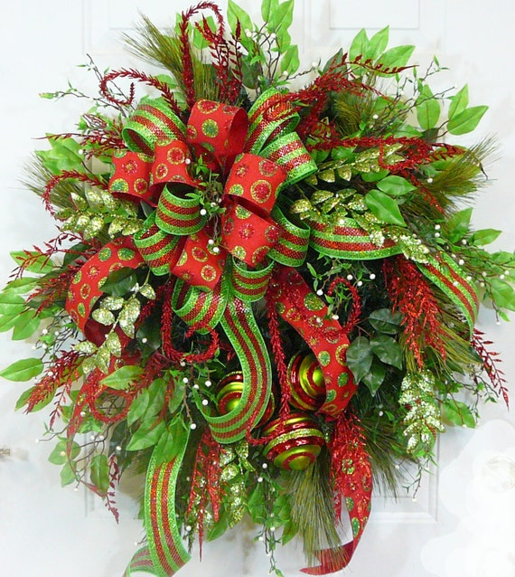 Christmas Wreaths For Double Front Doors: CHRISTMAS DOOR WREATH Modern Christmas With