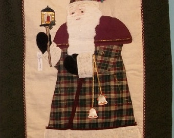Rich Earth Tones Old World Santa Wall Hanging