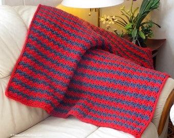 "Lap Blanket - Scarlet and Gray - Stadium Blanket - Baby Blanket - 37"" x 37"" - Item 4185"