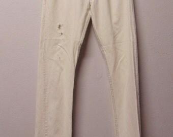501 Levis Distressed  Vtg 80's Denim Jeans Waist 31 x 35  inseam