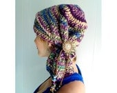 Crochet PATTERN - Sofie Scarf Hat - (sizes Toddler - Adult)