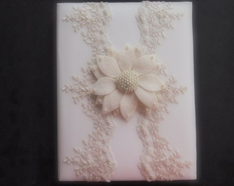 Wedding Memory Book Album Ivory Pearl