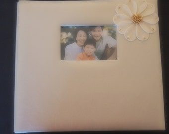 Scrapbook Album Wedding Platinum Ivory Gold