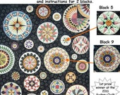 Lots of Dots BOM - Month 2. Patterns and instructions for two blocks as pictured.