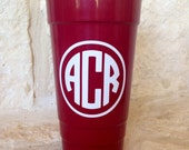 Personalized Solo Cup, Monogrammed Solo Cup, Doublewall Insulated 32 oz Solo Party Cup