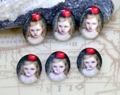 Oval Red Apply Young Girl Handmade photo glass cabochon dome bead 10x14mm13x18mm 18x25mm 30x40mm For Earring Brooch Ring Necklace Bracelet