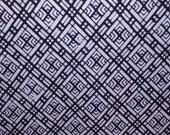 Sale   INDIGO DIAMOND  Vintage Japanese Yukata cotton fabric Geometric design  14.5 x 72 inches TREASURY Item