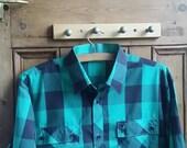Shirt Lumberjack Vintage Check Checked Grunge Plaid 1980s Vtg Mens Cotton M Style Large Dolly Topsy Etsy UK