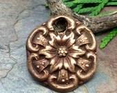 Artisan Bronze Precious Metal Clay Pendant