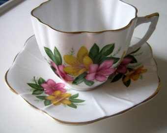 Royal Graften Azalea Vintage Tea Cup and Saucer