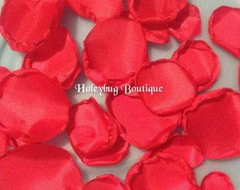 Red Wedding Fabric Flower Petals, Wedding Reception, Bridal Shower, Wedding Decoration