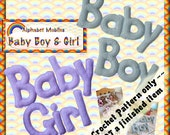 PDF Crochet Pattern Baby Boy and Baby Girl Mobiles