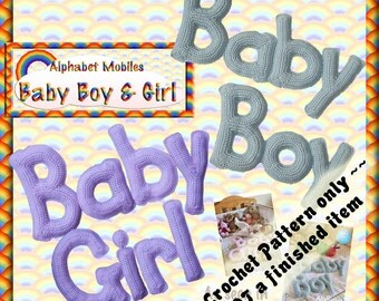 PDF Crochet Pattern Baby Boy and Baby Girl Mobiles