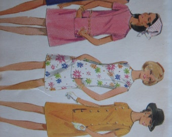 Butterick Pattern 4793 Misses' One-Piece Dress   1968  Uncut