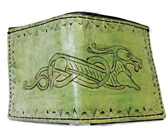 Celtic Irish Wolf - Celtic Gift - Irish Wallet - Celtic Wallet - Irish Gift - Irish Gifts for Men. Holds 8 Credit Cards,1 Bill Compartment