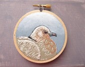 "Dove Hoop Art - Hand Embroidery on a 3"" Hoop"