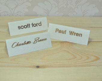 Elegant Typographic Laser Cut Place Cards