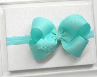Aqua Bow Headband - Aqua Boutique Bow Headband