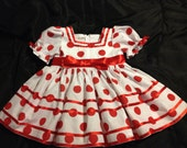 Girl Shirley Temple replica dress