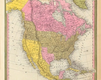 1846 Map of North America