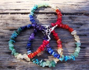 Made to order Chakra balancing gemstone bracelet