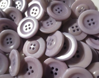 """Buttons Dusty Purple- 22mm Four Hole 7/8"""" Set of 36"""