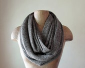 BOHO Infinity Scarf - Taupe and Grey Sweater Knit Scarf - Neutral Fashion Scarf - Bohemian Circle Scarf
