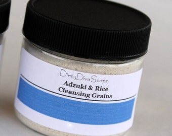 Adzuki and Rice Facial Cleansing Grains, Gentle Facial Exfoliation for Smooth Skin, All Skin Types