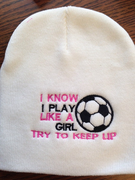 Personalize soccer beanie