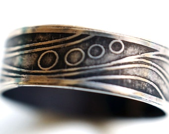 Etched Wave Ring