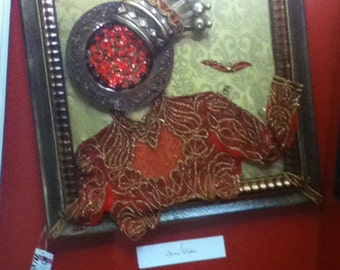 """Fiber and Glass art """" Queen Ester- I'm preparing for the King"""""""