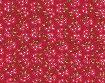 25164 - Dena Designs Love and Joy - Cherry in red color - 1 yard