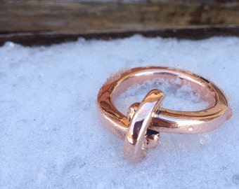 Handmade Copper Bar Ring