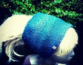 NattyDreadz Double Layered Dread Tube. Dread Wrap. Dread Band. Knitted. Variegated blues.