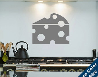 Swiss Cheese Wall Decal - Food Sticker - Free Shipping