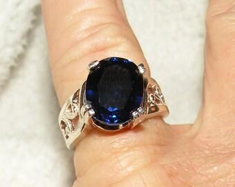 4.50ct - Blue Fancy Sapphire Ring