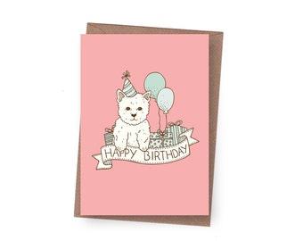 SALE Birthday Puppy Greeting Card