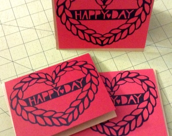 Happy day papercut valentine