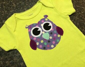 Cute Owl Baby Onesie (ONE OF A KIND)