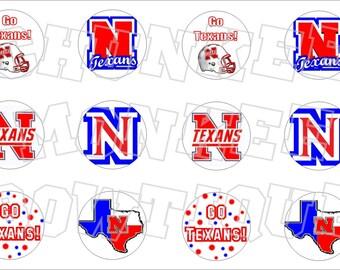 Northwest Texans bottlecap image sheet - school mascot
