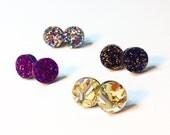 Mini Glitter Studs - Choose Your Own Colour