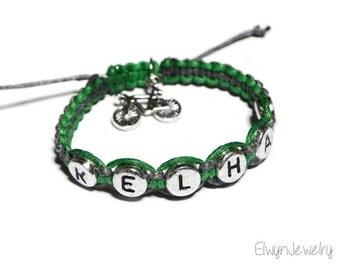 Baby Boy Bracelet, Boy Jewelry, Name Bracelet, Kids Jewelry, Kid Bracelet, Child Bracelet, Bicycle Bracelet, Cord Bracelet, Child Gift