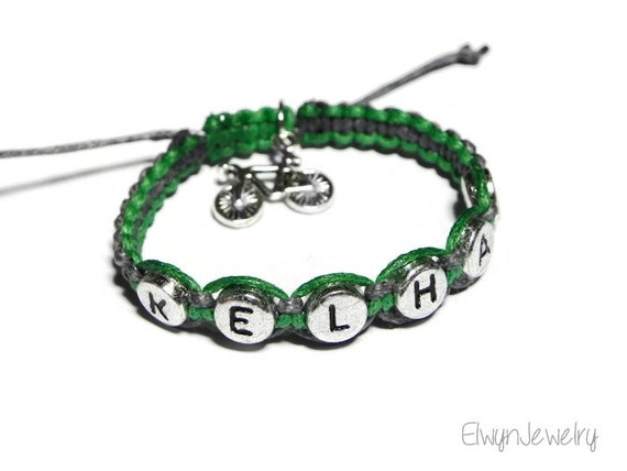 Boy Bracelet Bicycle Bracelet Boy Jewelry Child Name