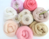 Skin Tones Merino Wool , Needle Felting Wool, Needle Felting Skin Tones, Nuno Felting Wool, Wet Felting Wool, Merino Wool for Needle Felting