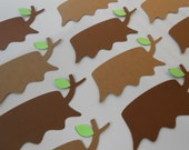 50 Tree Stump Escort Cards, With Leaf. CHOOSE Your COLORS. Weddings, Tags, Place Cards, Gift Tags. Custom Orders Welcome.