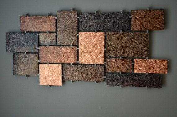 items similar to hammered copper wall art on etsy. Black Bedroom Furniture Sets. Home Design Ideas