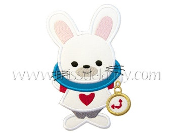 White Rabbit Applique Design