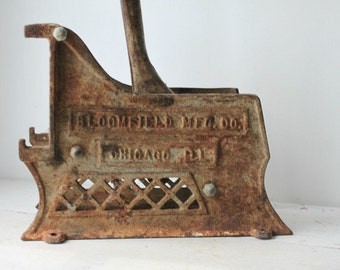 Antique Bloomfield Cast Iron French Fry Cutter