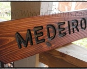 Personalized Wooden Lawn Sign